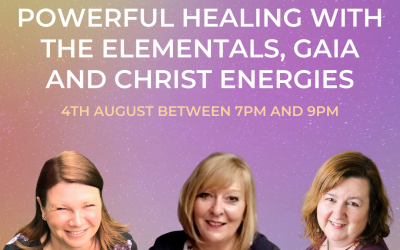 An evening of powerful healing with the elementals, Gaia and Christ energies.